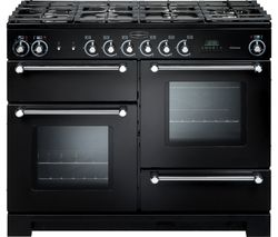 RANGEMASTER Kitchener 110 cm Dual Fuel Range Cooker - Black & Chrome
