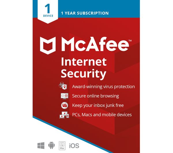 Image of MCAFEE Internet Security - 1 year for 1 device