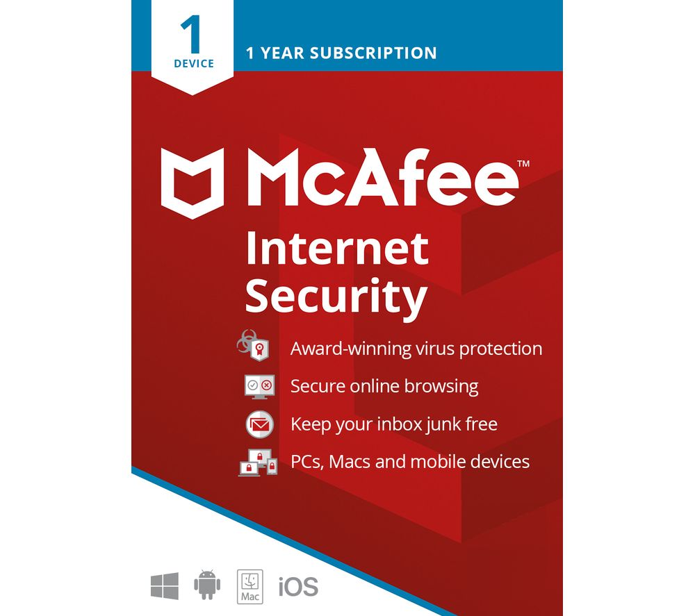 Image of MCAFEE Internet Security 2019 - 1 year for 1 device