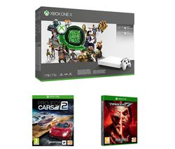 MICROSOFT Xbox One X, 3-Month Game Pass, Live Gold Membership, Tekken 7 & Project Cars 2 Bundle - 1 TB