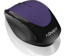 ADVENT AMWLPP19 Wireless Optical Mouse - Purple & Black