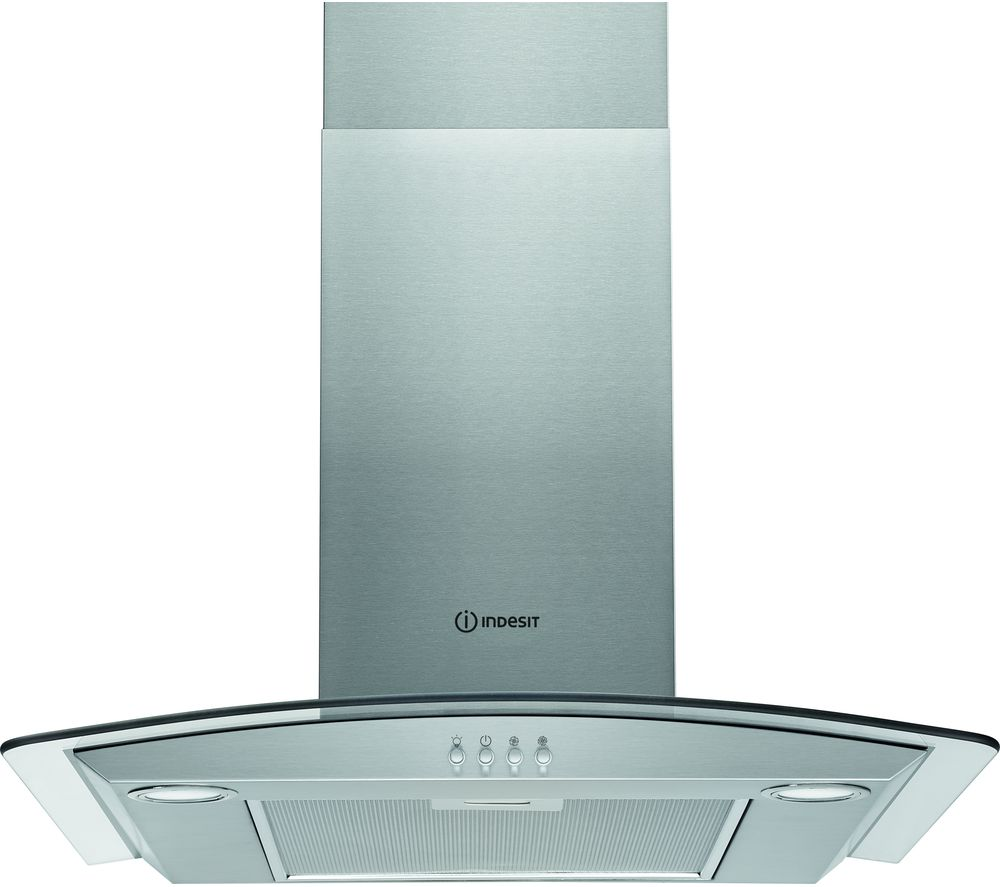 INDESIT IHGC 6.5 LM X Chimney Cooker Hood - Silver