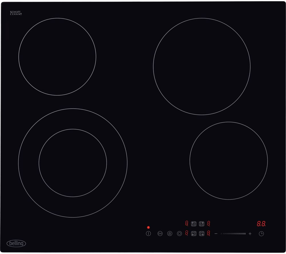 Image of BELLING CH602T Electric Ceramic Hob - Black, Black