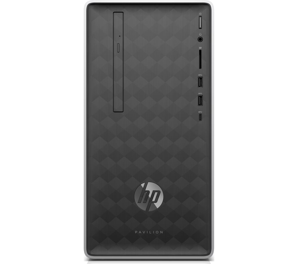 HP Pavilion 590-p0060na Intel® Core™ i3+ Desktop PC - 1 TB HDD, Silver