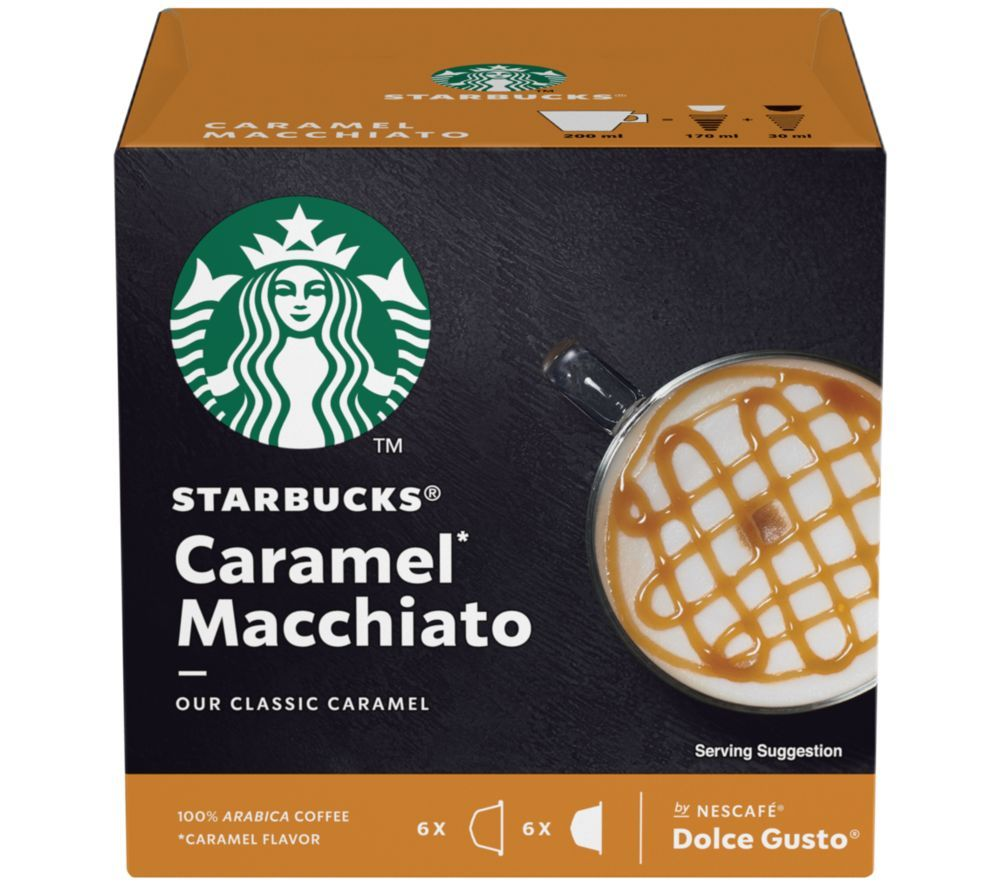 Image of Dolce Gusto Caramel Macchiato Coffee Pods - Pack of 12