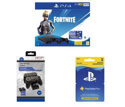 SONY PlayStation 4 with Fortnite Neo Versa, Twin Docking Station & PlayStation Plus Bundle - 500 GB