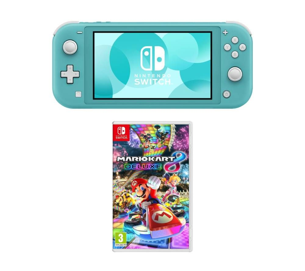 Switch Lite Mario Kart 8 Deluxe Bundle Turquoise