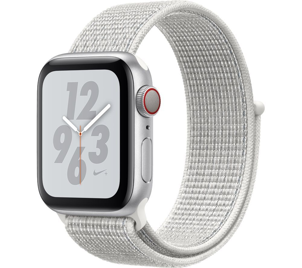 Buy APPLE Watch Series 4 Cellular - Silver & White Nike