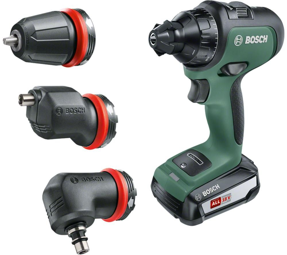 BOSCH AdvancedDrill 18 Cordless 2-Speed Combi Drill - Green & Black, Green