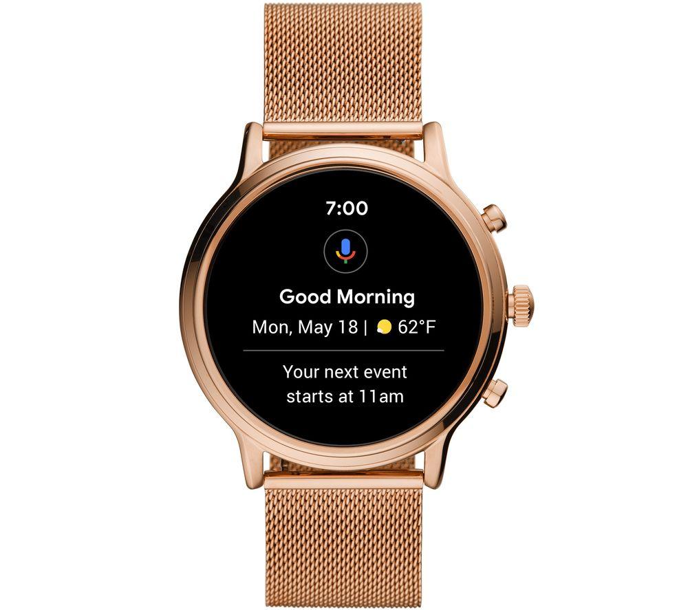 FOSSIL Julianna HR FTW6062 Smartwatch - Rose Gold, Stainless Steel, 44 mm