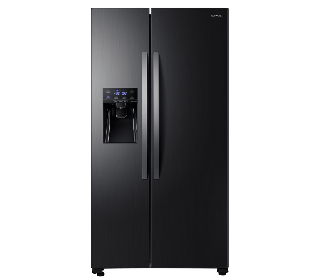 KENWOOD KSBSDIT20 American-Style Fridge Freezer - Black Inox