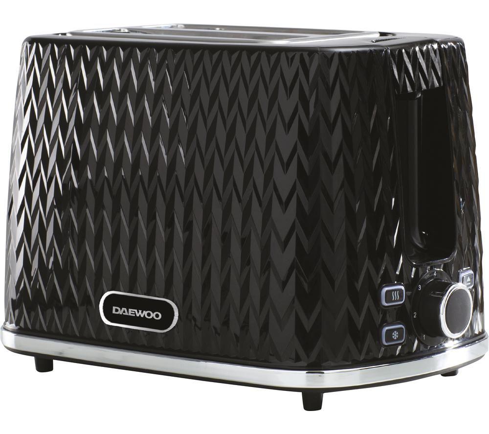 Image of DAEWOO Argyle Collection SDA1774 2-Slice Toaster - Black, Black