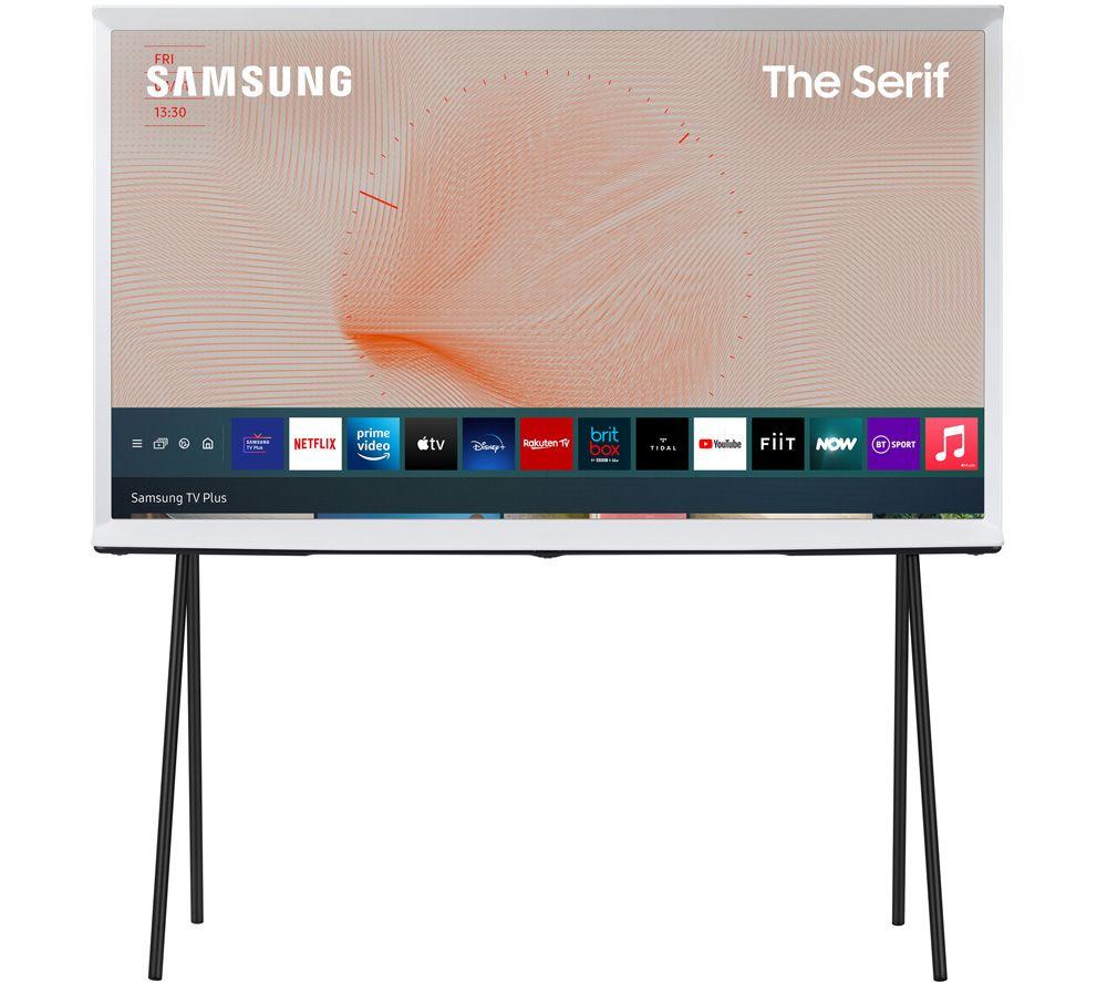 "SAMSUNG The Serif QE43LS01TAUXXU 43"" Smart 4K Ultra HD HDR QLED TV with Bixby, Alexa & Google Assistant - Cloud White"