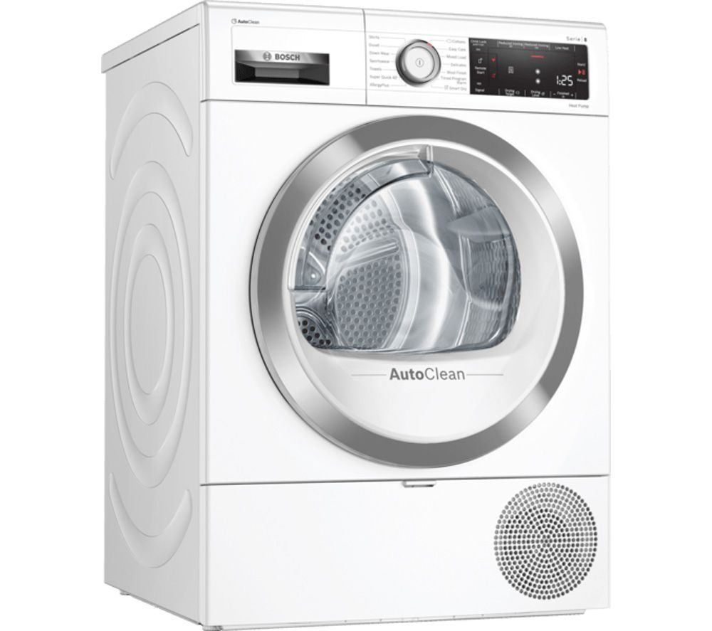 BOSCH Serie 8 WTX88RH9GB Smart 9 kg Heat Pump Tumble Dryer - White