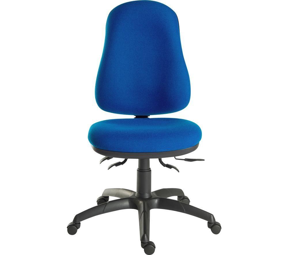TEKNIK Ergo Comfort 9500BLU Fabric Tilting Operator Chair - Blue