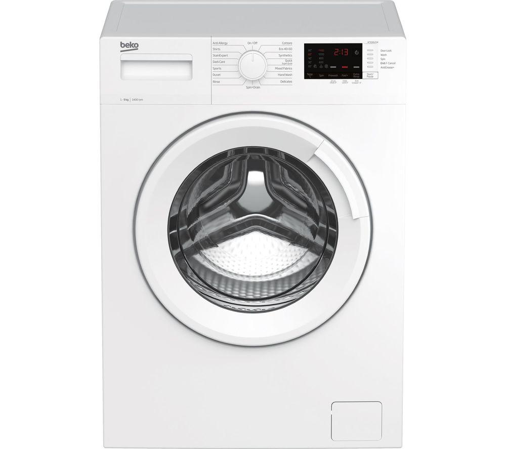 BEKO WTK94121W 9 kg 1400 Spin Washing Machine - White, White