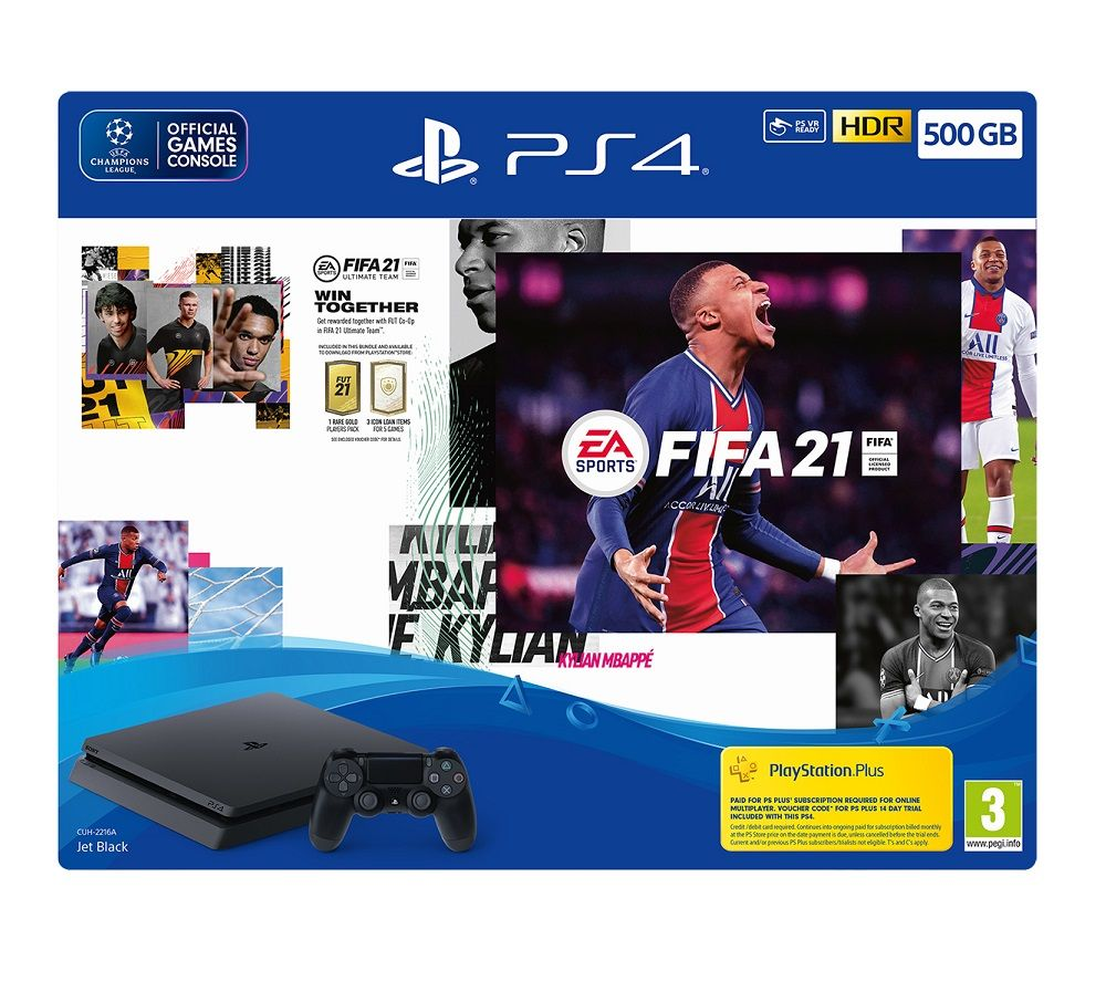 SONY PlayStation 4 with FIFA 21 - 500 GB