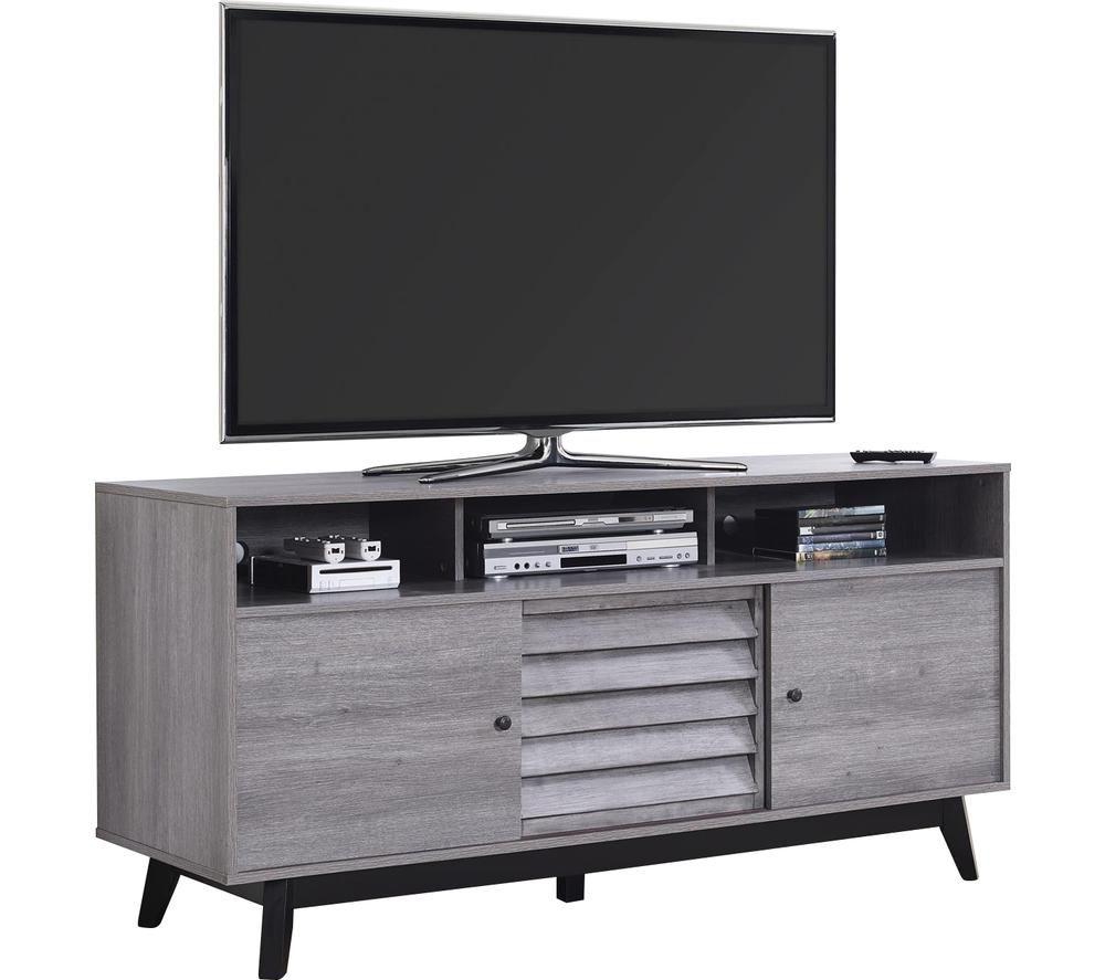 DOREL HOME Vaughn 1823196COMUK 1499 mm TV Stand - Grey Oak