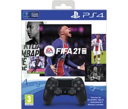 DualShock 4 Wireless Controller with FIFA 21 - Black