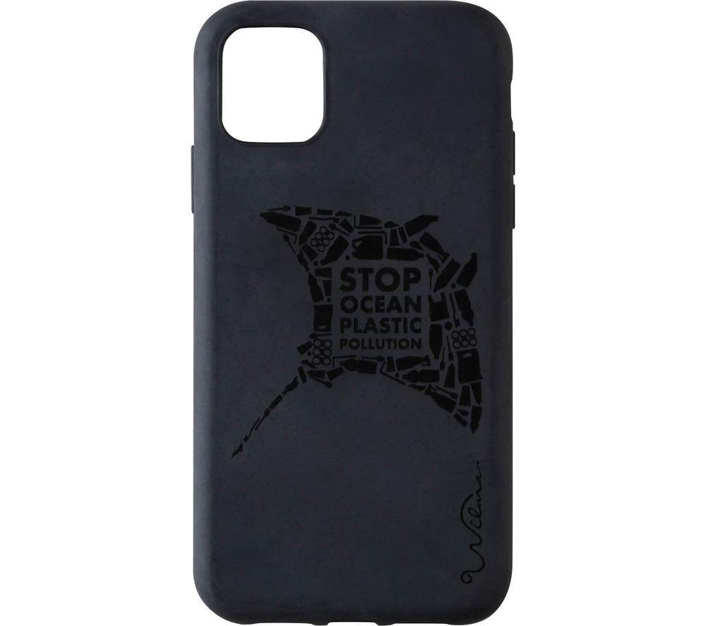 WILMA Stop Ocean Plastic Pollution Manta iPhone 11 Pro Case - Black