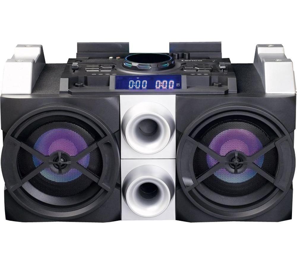 LENCO PMX-150 Megasound Party Speaker - Black & Silver