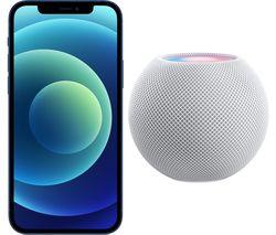 iPhone 12 & White HomePod Mini Bundle - 64 GB, Blue
