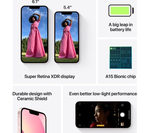 Apple iPhone 13 mini - 128 GB, Pink 6