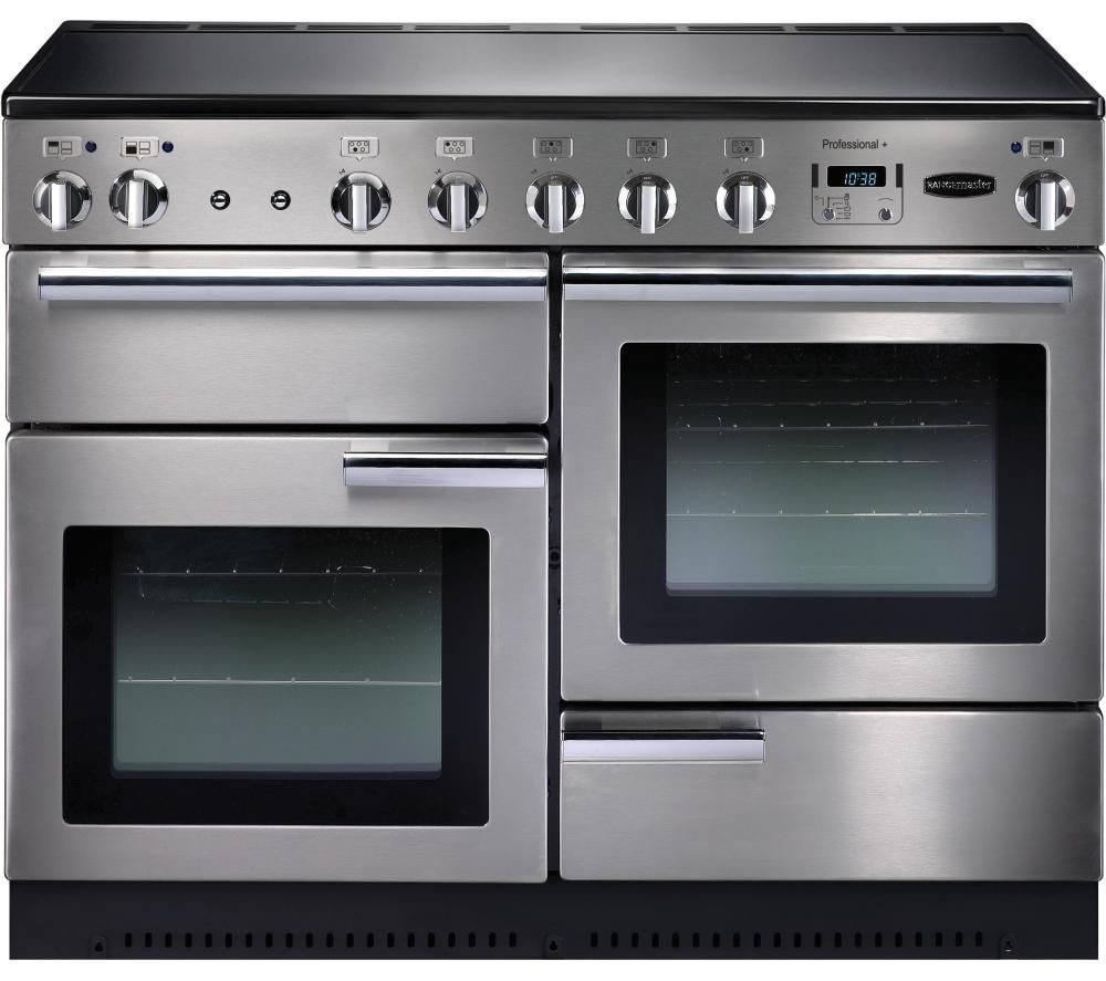 buy rangemaster professional 110 electric induction range cooker stainless steel chrome. Black Bedroom Furniture Sets. Home Design Ideas