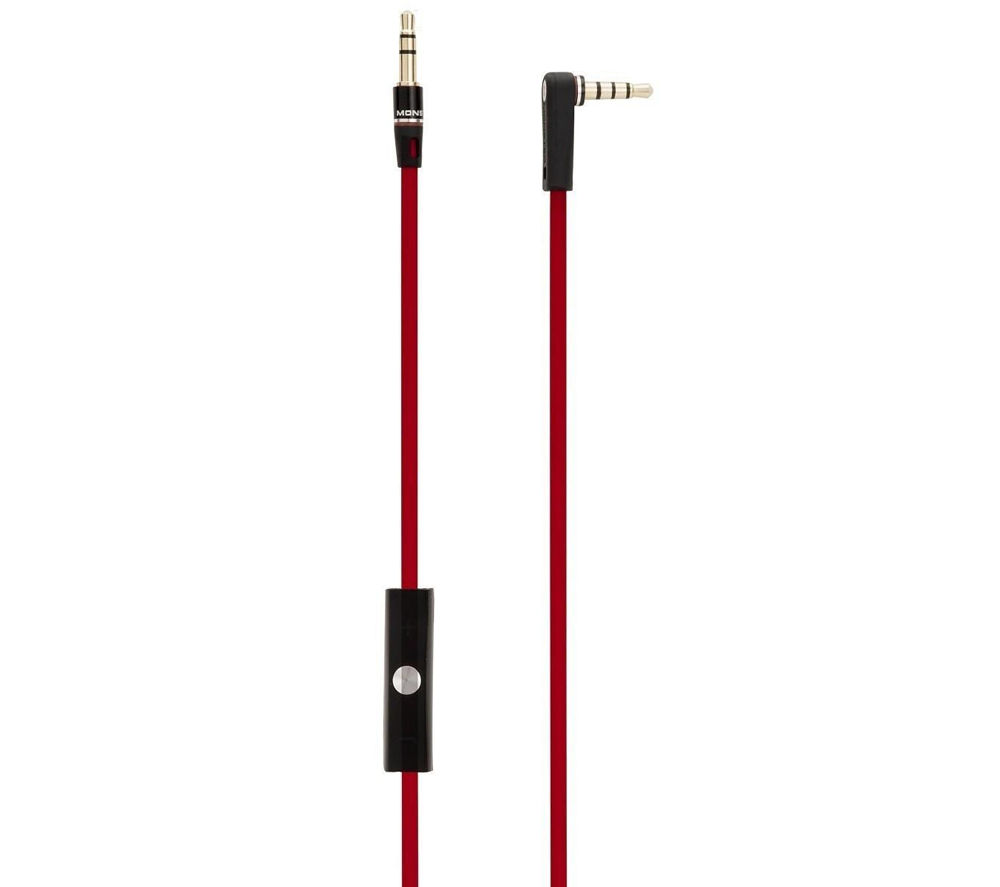 BEATS Remote Talk Cable – Red + iPhone 7 Lightning to 3.5 mm Headphone Jack Adapter