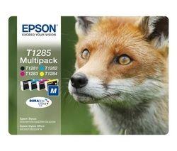 Fox T1285 Cyan, Magenta, Yellow & Black Ink Cartridges - Multipack