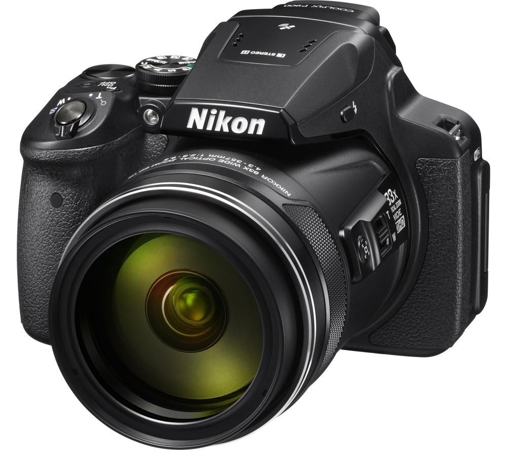 NIKON COOLPIX P900 Bridge Camera - Black, Black