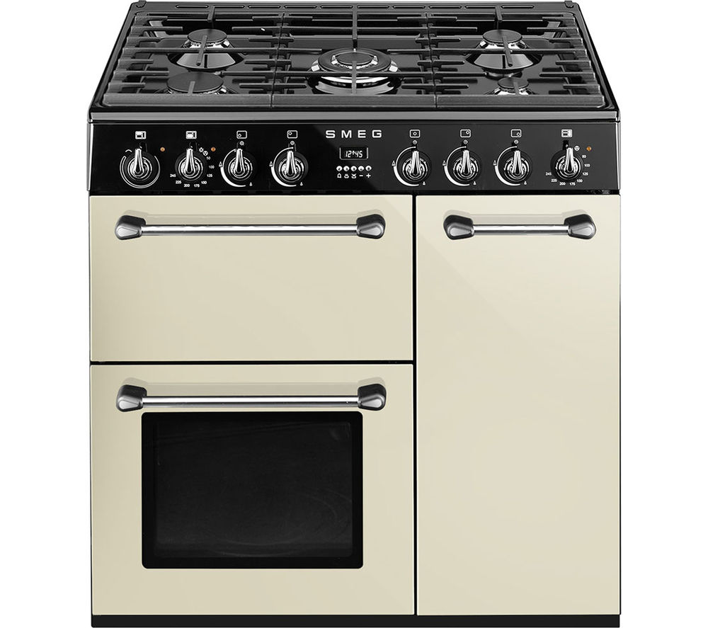 Buy Smeg Blenheim 90 Cm Dual Fuel Range Cooker Cream Black