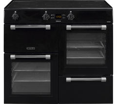LEISURE Cookmaster CK100D210K Electric Induction Range Cooker - Black & Chrome