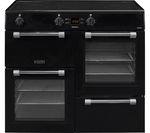 LEISURE Cookmaster CK100D210K Electric Induction Range Cooker - Black & Chrome