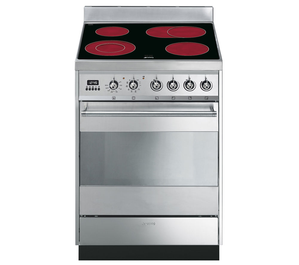 SMEG Symphony Electric Ceramic Cooker - Stainless Steel