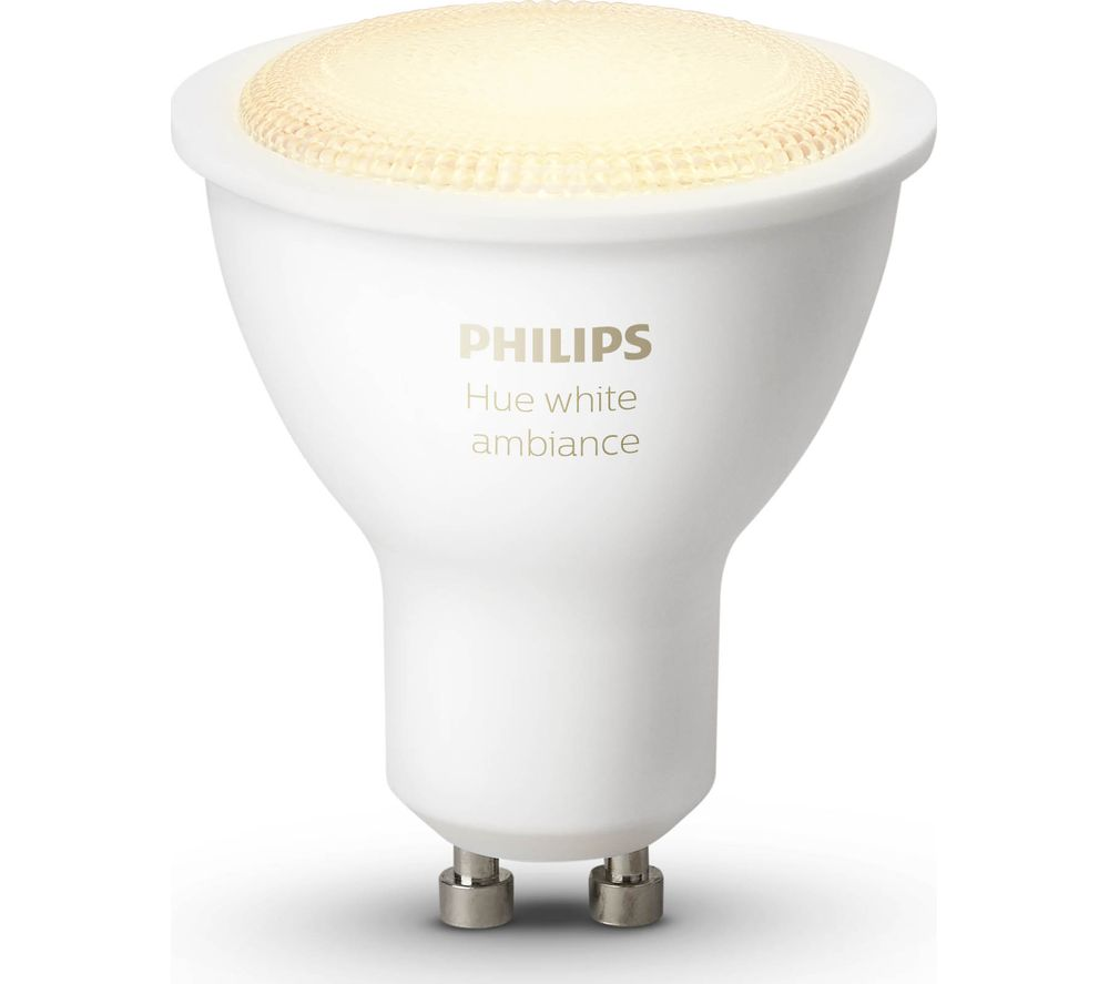 PHILIPS Hue White Ambiance Wireless Bulb - GU10