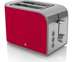 SWAN Retro ST17020RN 2-Slice Toaster - Red