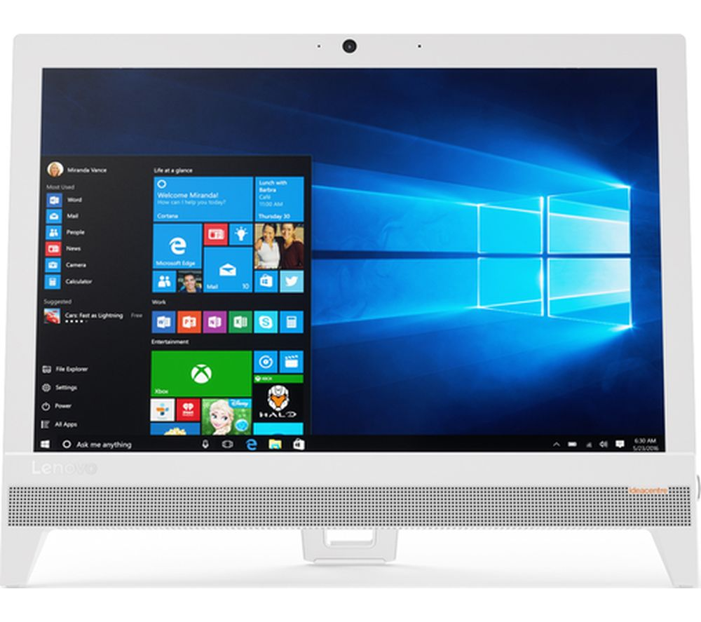 "LENOVO IdeaCentre 310 19.5"" Intel® Celeron® All-in-One PC - 1 TB HDD, White + Office 365 Home - 1 year for 5 users + LiveSafe Premium 2018 - 1 user / unlimited devices for 1 year"