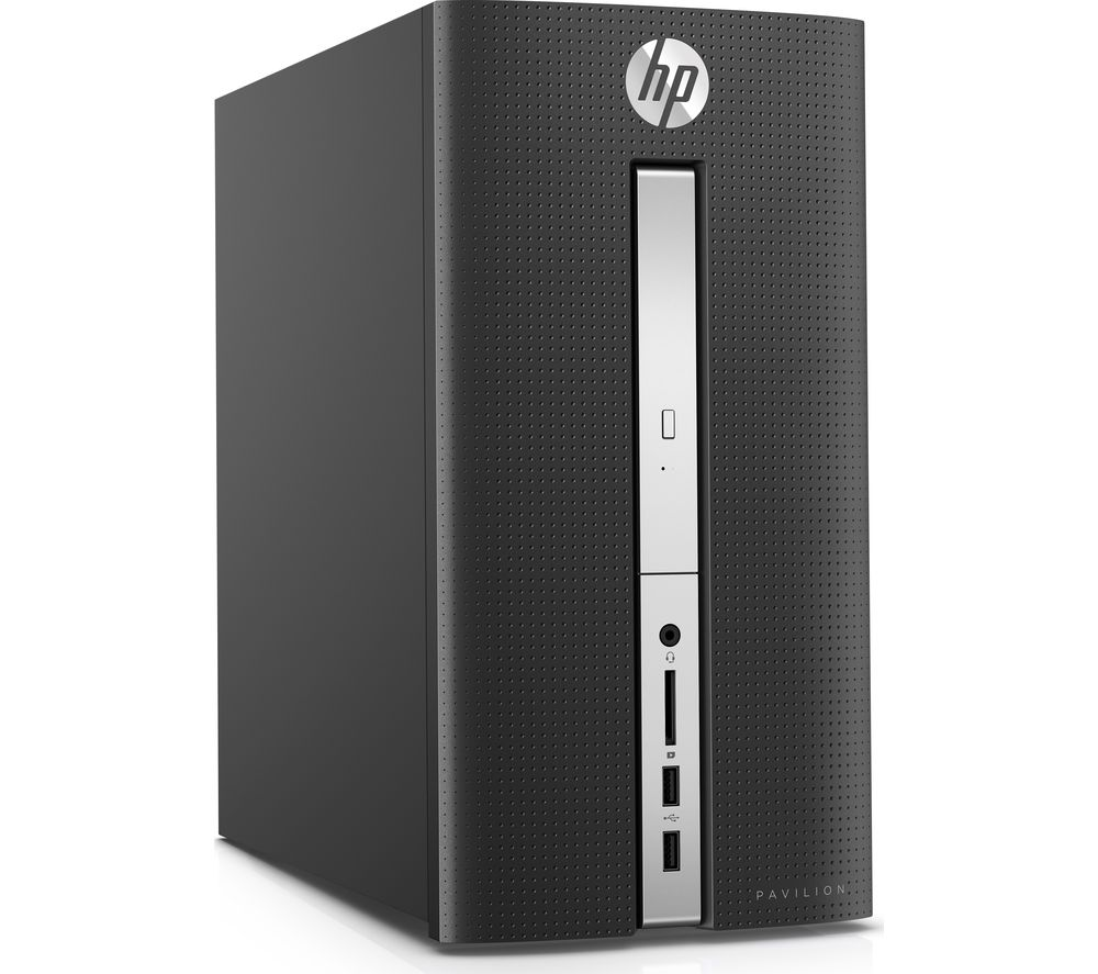HP Pavilion 570-p010na Desktop PC + Office 365 Home - 1 year for 5 users + LiveSafe Premium 2018 - 1 year for unlimited devices