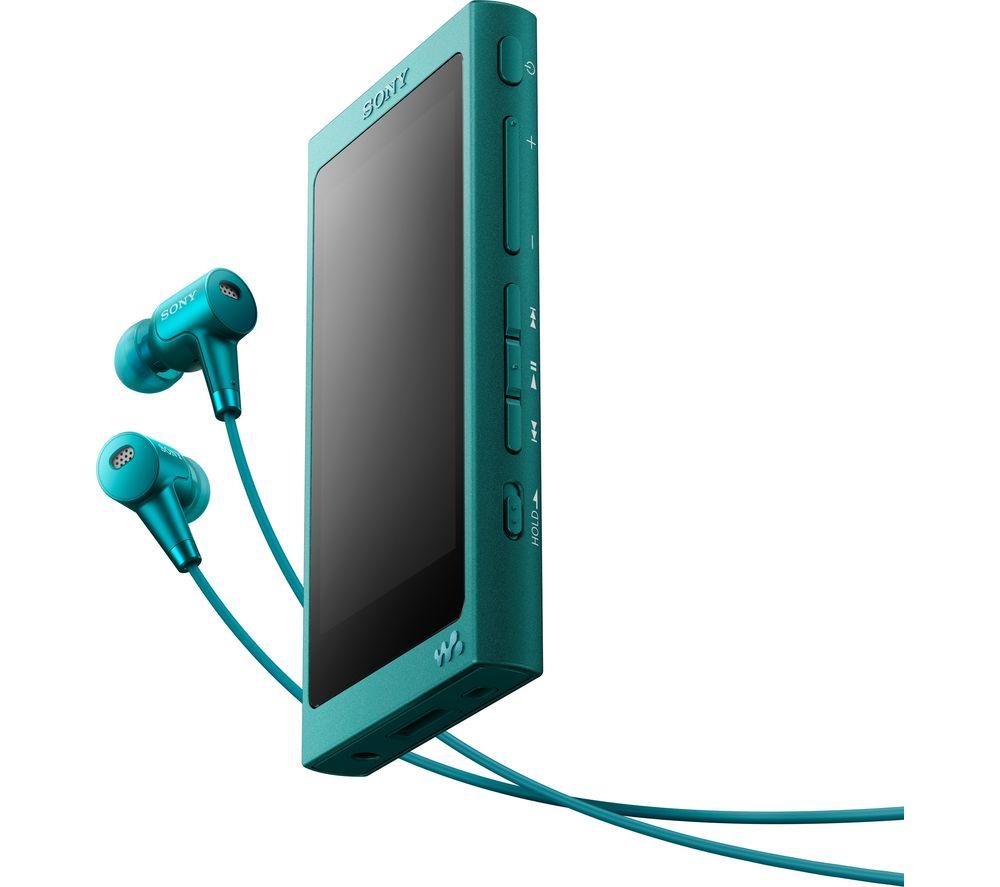 SONY Walkman NW-A35HN Touchscreen MP3 Player & Noise Cancelling Headphones Bundle - Blue