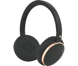KATE SPADE New York Wireless Bluetooth Headphones - Rose Gold & Black Gem