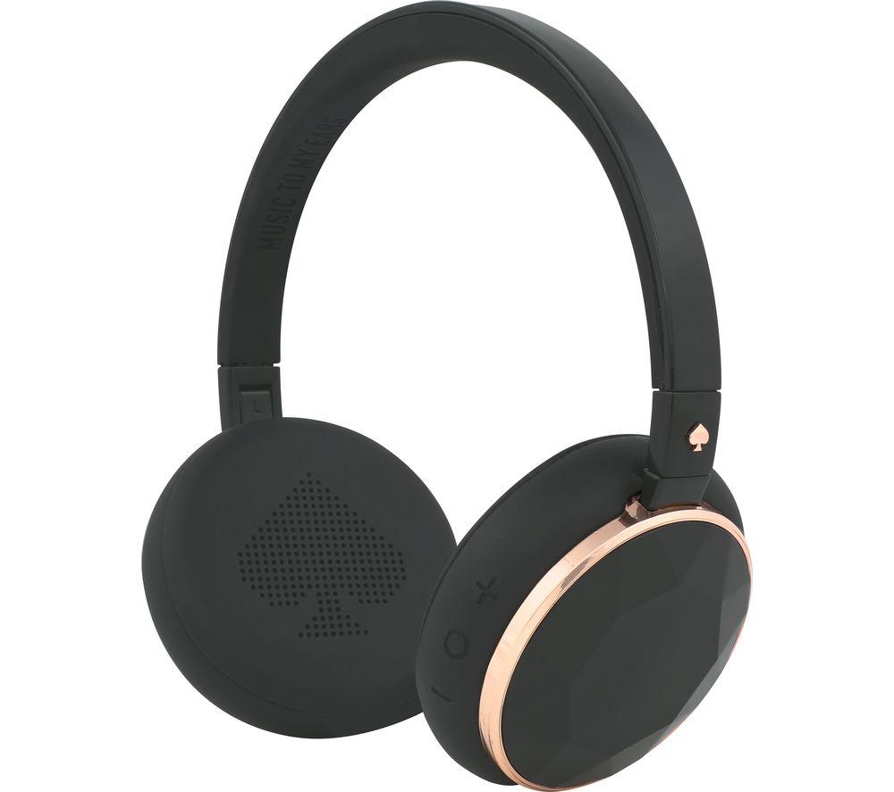 KATE SPADE New York Wireless Bluetooth Headphones - Rose Gold & Black Gem