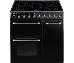 SMEG Blenheim BM93IBL 90 cm Electric Induction Range Cooker - Black