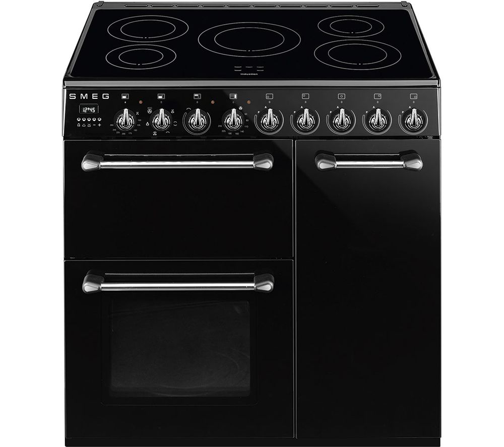 Buy smeg blenheim bm93ibl 90 cm electric induction range for Table induction 90 cm
