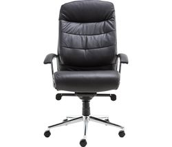 ALPHASON Empire AOC8218BLK Leather Tilting Executive Chair - Black