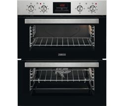 ZANUSSI ZOF35611XE Electric Double Oven - Stainless Steel and Black