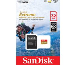 SANDISK Extreme Class 10 microSD Memory Card - 32 GB