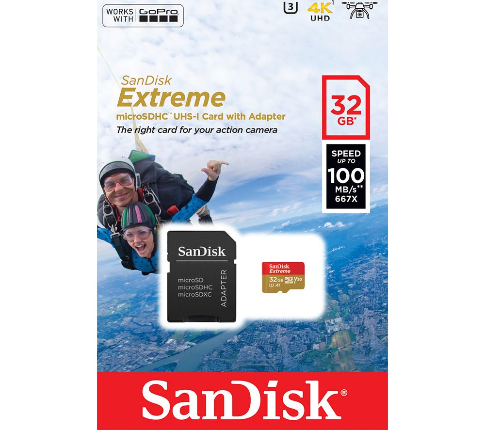 Compare cheap offers & prices of Sandisk Extreme Class 10 microSD Memory Card 32 GB manufactured by SanDisk