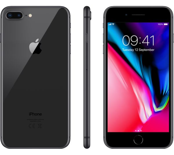 superior quality 86d53 fefaa iPhone 8 Plus - 256 GB, Space Grey + MQHK2ZM/A iPhone 8 & 7 Plus Leather  Case - Saddle Brown