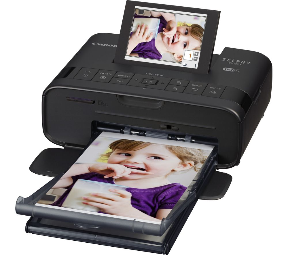 Image of Canon SELPHY CP1300 Wireless Photo Printer - Black, Black